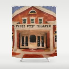 """The Post Theater"" Shower Curtain"