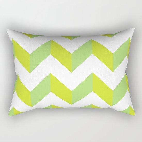green pattern geometric Rectangular Pillow