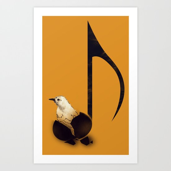 Born To Sing Art Print