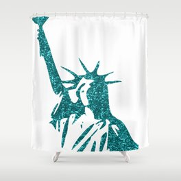 Statue of Glitter Shower Curtain