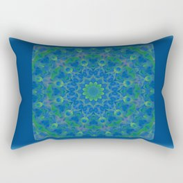 Bluegreen therapy art - Serenity mandala Rectangular Pillow