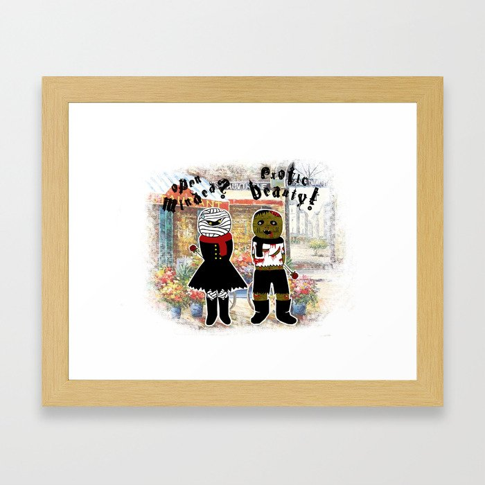 Blind Date Framed Art Print