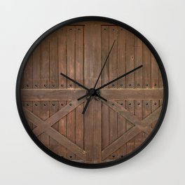 Brown Door Wall Clock