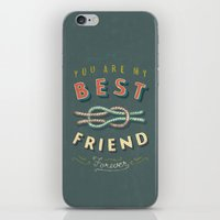 best friend iPhone & iPod Skins featuring Best Friend by Seaside Spirit
