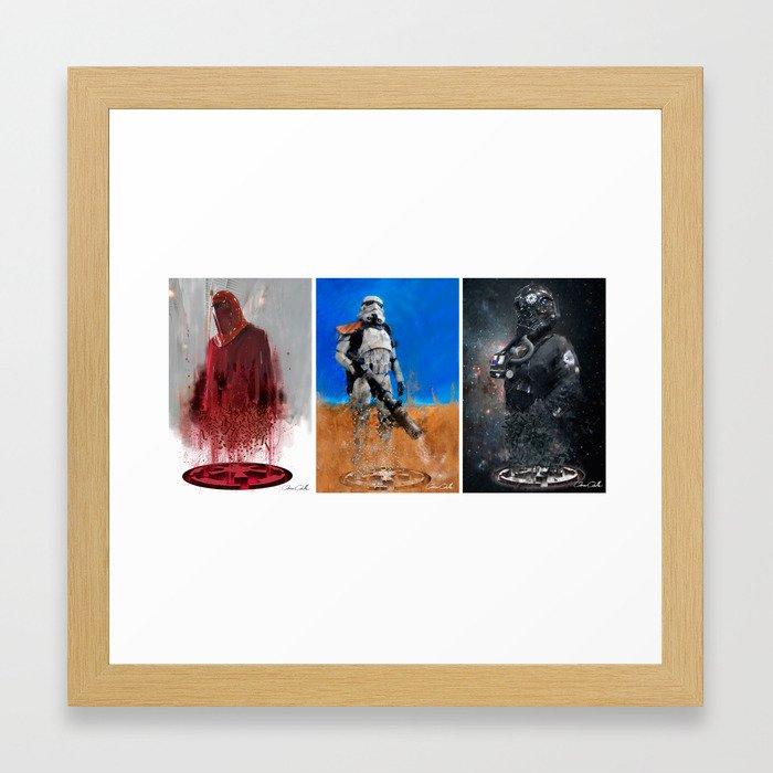 Star Wars triptych Framed Art Print by omarovalle | Society6