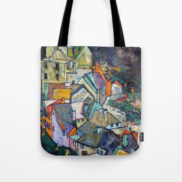 Egon Schiele - Edge of Town (Krumau Town Crescent III) 1918 Tote Bag