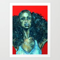 power Art Prints featuring POWER by Iconic Arts