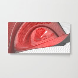 Red waving mathematical surface Metal Print