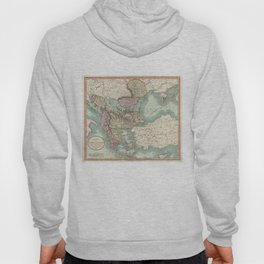 Vintage Map of The Balkans and Turkey (1801) Hoody