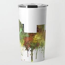 Greensboro NC Skyline SG - Safari Buff Travel Mug