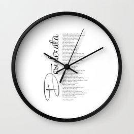 DESIDERATA Poem for Life by Max Ehrmann - PO1001 Wall Clock