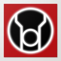 green lantern Canvas Prints featuring Green Lantern: Red Lantern by The Barefoot Hatter