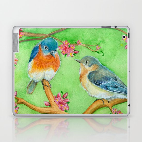 Bluebirds Laptop & iPad Skin