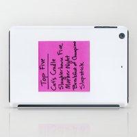 kurt rahn iPad Cases featuring TOP FIVE Kurt Vonnegut Novels by Jeremiah Wilson