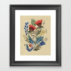 folkflower I Framed Art Print