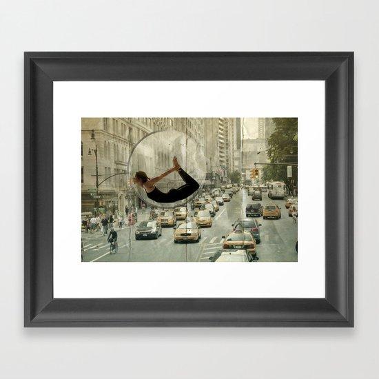 bow city traffic Framed Art Print