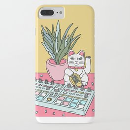 Sad cat pad iPhone Case