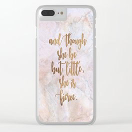 She is Fierce - Marble Clear iPhone Case