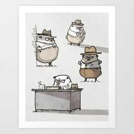 Ketch Fetchum, Pug Private Eye Art Print