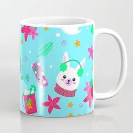 Christmas Pattern - Santa Claus with cute animals Coffee Mug