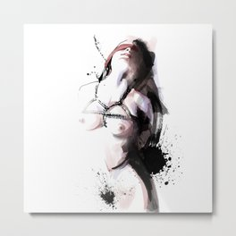 Shibari - Japanese BDSM Art Painting #3 Metal Print