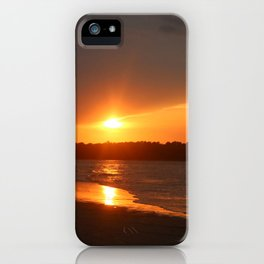Sunset Over The Waterway iPhone Case
