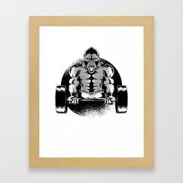 Best Gorilla Body Building Design Framed Art Print
