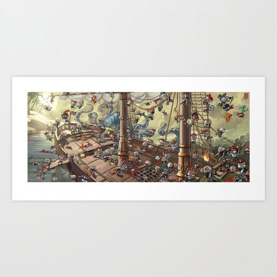 Pirate Melee Art Print