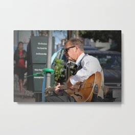 North Beach Sidewalk Tunes Metal Print