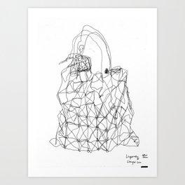 Blind Drawing of Prism Bag by Issey Miyake BaoBao Art Print