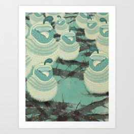 Quails III Art Print