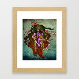 Pusit Lady Framed Art Print