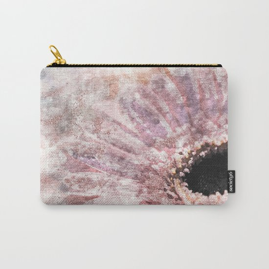 Pink glitter daisy- Flower watercolor illustration Carry-All Pouch