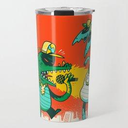Kaiju Rap Battle Travel Mug