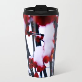 snow storm and berries Travel Mug