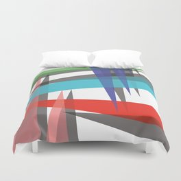 Ambient 19 on white Duvet Cover