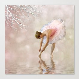 Dancer in Water Canvas Print