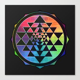 Maverick Rainbow Sri Yantra Canvas Print