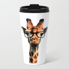 Hipster Giraffe Metal Travel Mug