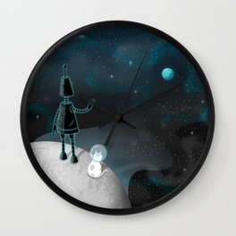 Deep Blues Wall Clock