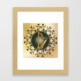 Golden harp Framed Art Print