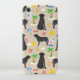 Black Lab labrador retriever dog breed beach summer vacation dog gifts iPhone Case