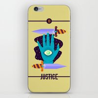 justice iPhone & iPod Skins featuring JUSTICE by badOdds