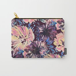 Brushed stylised flowers painting Carry-All Pouch