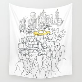 NYC yellow cab Wall Tapestry