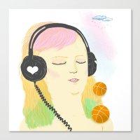 grimes Canvas Prints featuring grimes by Cristina Portolano