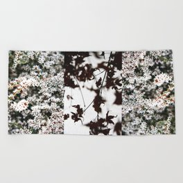 flowers and leaves: diptych Beach Towel