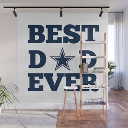 Best Dad Ever - Football Dad Wall Mural