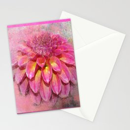 Mixed Media Flower Stationery Cards