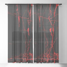Horror -Dark Red- Sheer Curtain